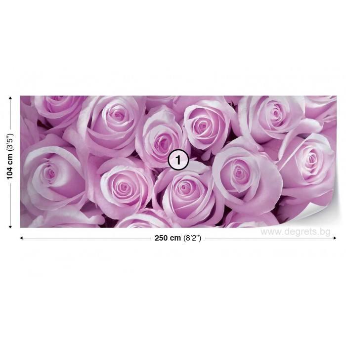 Фототапет флис  Лилави рози