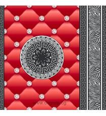 Тапет хартиен Айлин 3D червен