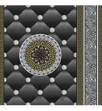 Тапет хартиен Айлин 3D черен-злато