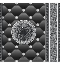 Тапет хартиен Айлин 3D черен-сребро