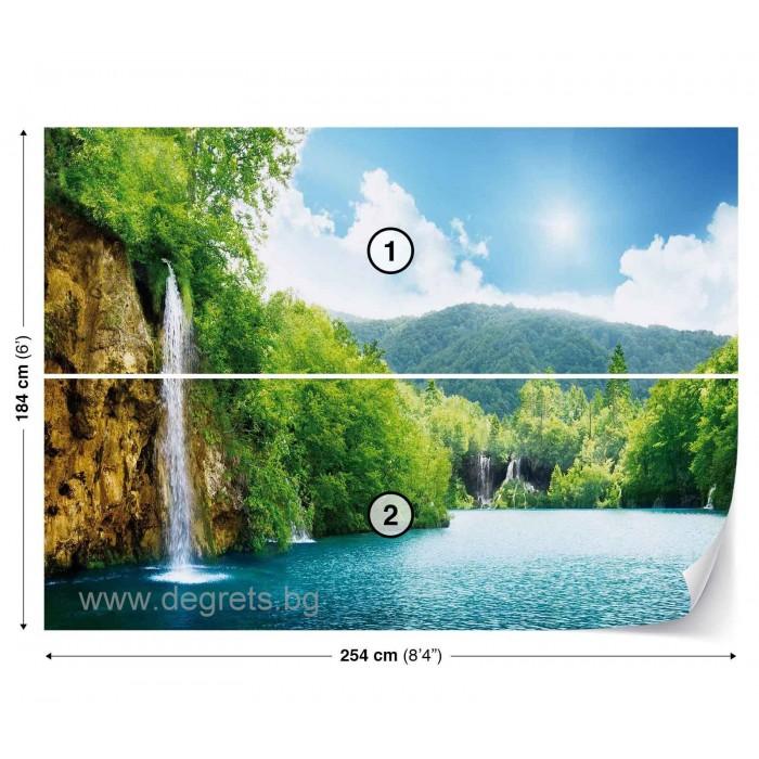 Фототапет Водопад при езерото L 1