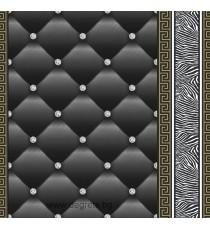 Тапет хартиен Айлин 3D 2 черен-злато