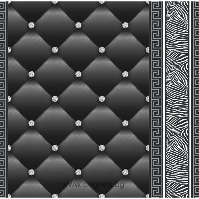 Тапет хартиен Айлин 3D 2 черен-сребро