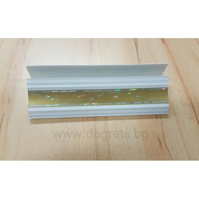 PVC профил декоративен Злато 3 метра