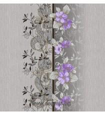 Тапет хартиен Азра сив-лилав
