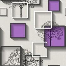 Тапет хартиен Нелми 3D лилав