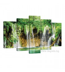 Картина Канава Чудният водопад Сет 5 части