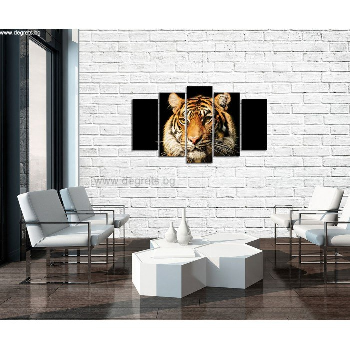 Картина Канава Тигър 2 3D Сет 5 части