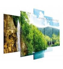 Картина Канава Водопад при езерото 5 части