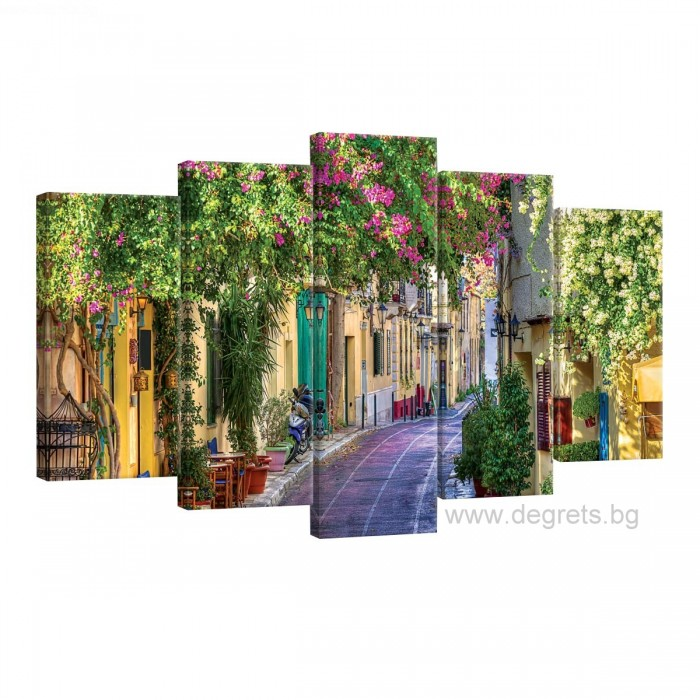 Картина Канава Цветна улица 1 Сет 5 части