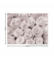 Картина Канава Букет от бели рози