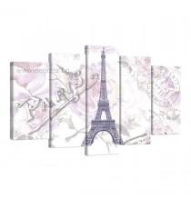 Картина Канава Париж арт 3 Сет 5 части