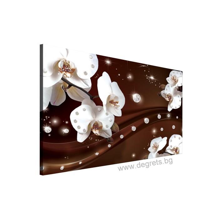 Картина Канава Абстракция Орхидеи 1 3D L