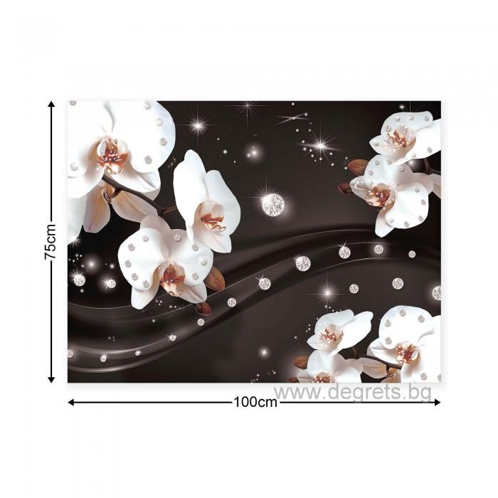 Картина Канава Абстракция Орхидеи 2 3D L