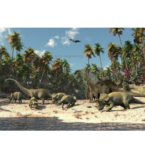Wallpaper Mural Dinosaurs 3D