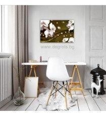 Картина Канава Абстракция Орхидеи 4 3D S