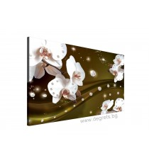 Картина Канава Абстракция Орхидеи 4 3D L