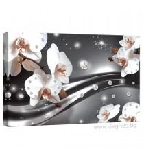 Картина Канава Абстракция Орхидеи 3 3D S