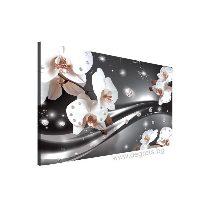 Картина Канава Абстракция Орхидеи 3 3D L