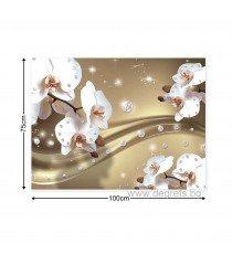 Картина Канава Абстракция Орхидеи 6 3D L