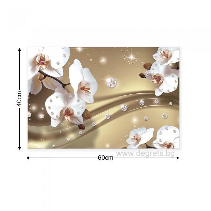 Картина Канава Абстракция Орхидеи 6 3D S