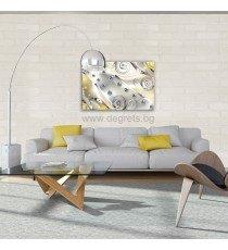 Картина Канава Жълт флорален диамант 3D S