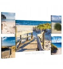 Картина Канава Морски бряг Сет 5 части