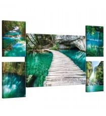 Картина Канава Приказен водопад Сет 5 части