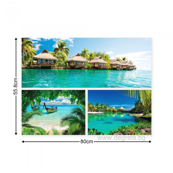 Картина Канава Екзотични плажове 3 Сет 3 части