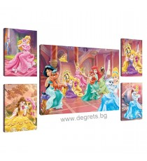 Картина Канава Принцеси - любимци 2 Сет 5 части