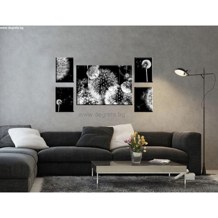 Картина Канава Глухарче 3D абстракция 2 Сет 5 части