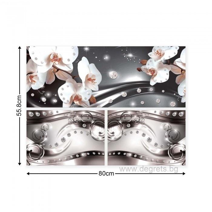 Картина Канава Орхидея елегант 6 Сет 3 части