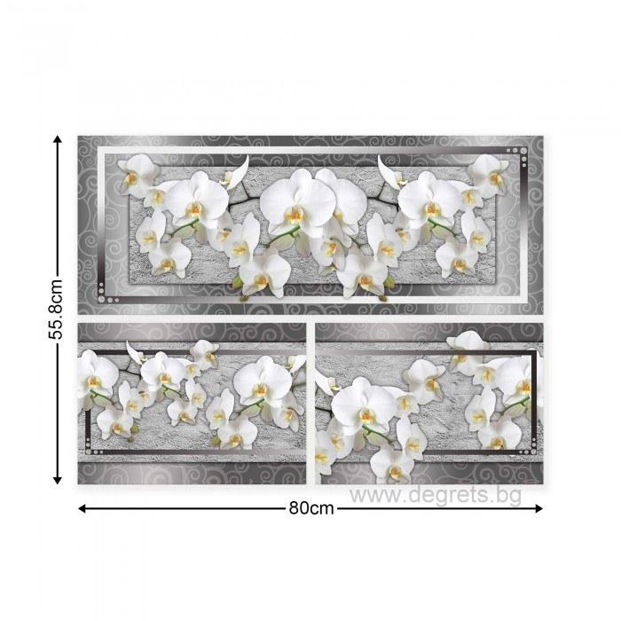 Картина Канава Орхидея елегант 7 Сет 3 части