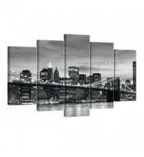 Картина Канава Бруклински мост 3 Сет от 5 части