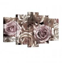 Картина Канава Рози 3D 3 Сет 5 части