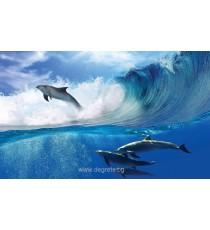 Фототапет Делфини в морето