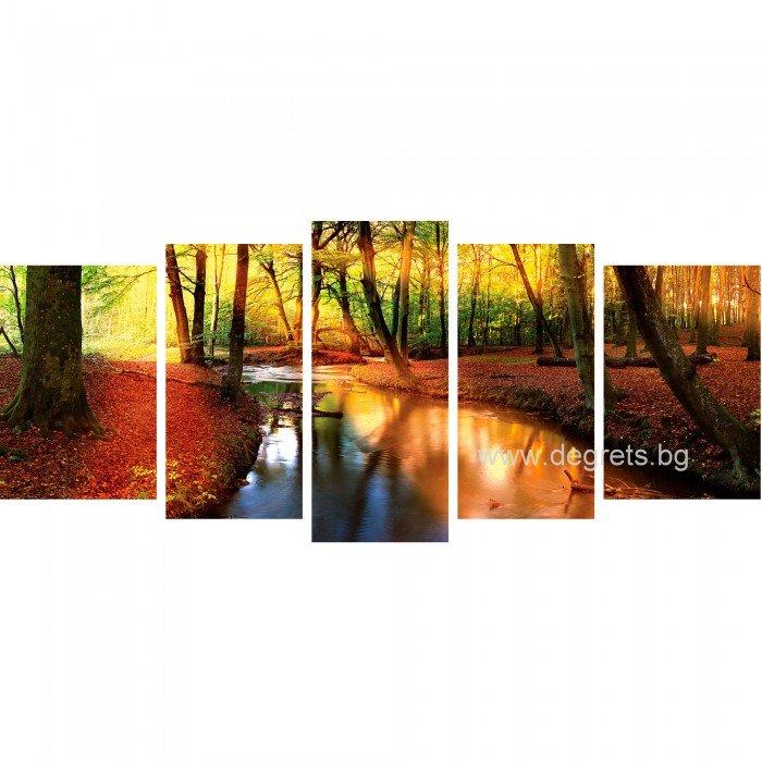 Картина Канава Утро в гората Сет 5 части