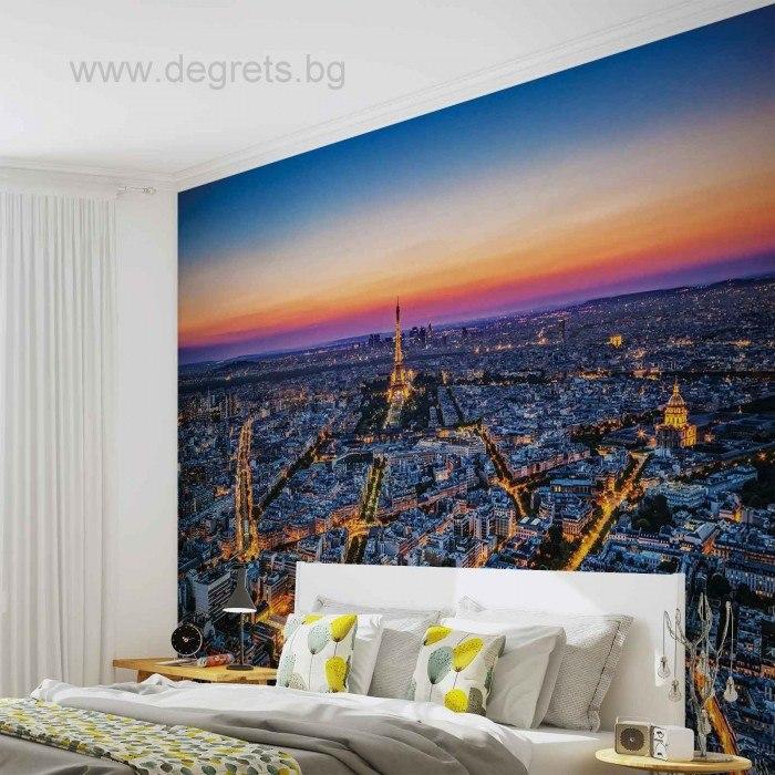 Фототапет Залез над Париж