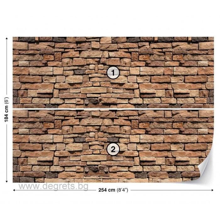 Фототапет Стена Камък 3 3D L
