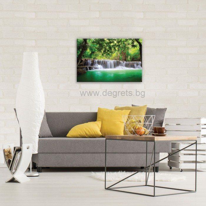 Картина Канава Водопад в Тайланд S