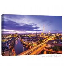 Картина Канава Берлин през нощта