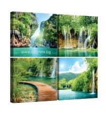 Картина Канава Райски водопади Сет 4 части