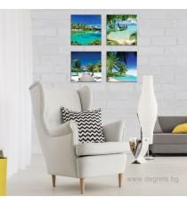 Картина Канава Екзотични плажове 2 Сет 4 части