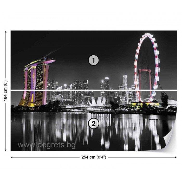 Фототапет Сингапур Скайлайн