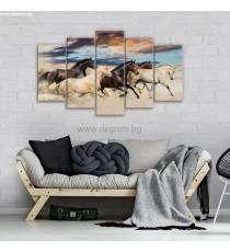 Картина Канава Диви коне Сет 5 части