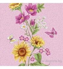 Тапет влагоустойчив Лято розов