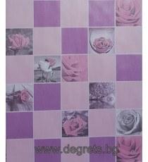 Тапет влагоустойчив Рози розов