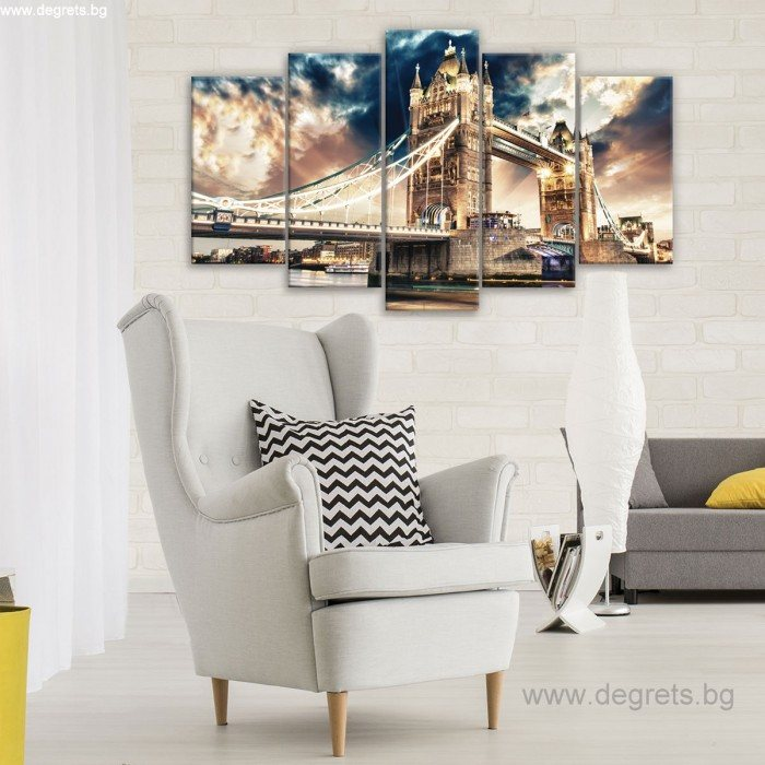 Картина Канава Лондон бридж Сет 5 части