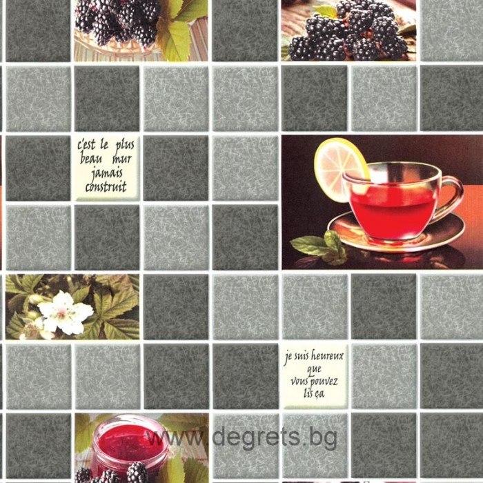 Тапет влагоустойчив Чай сив