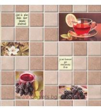 Тапет влаустойчив Чай бежов